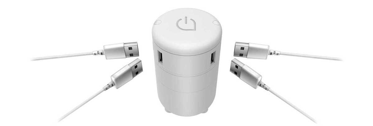 ניתן לחבר למכשיר 4 תקעי USB