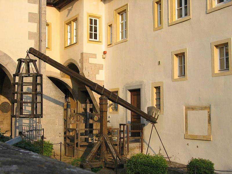 מתקן כליאה בחצר מוזיאון הפשע
