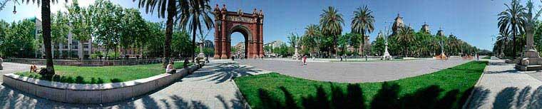 אָרק דֶה טריומף, שער הניצחון שבכניסה לפארק דֶה לָה סיוּטאדֶליָה