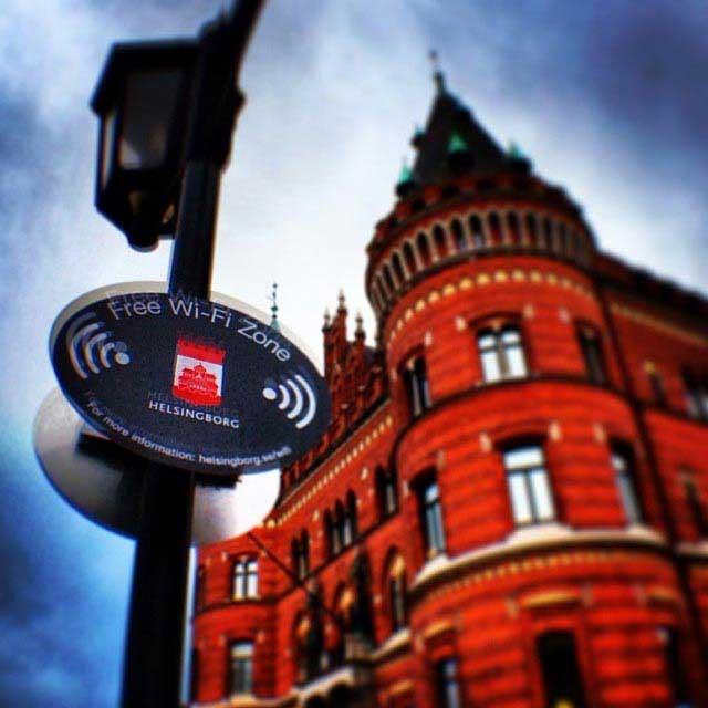 אינטרנט אלחוטי חינם בהלסינגבורג שבשוודיה