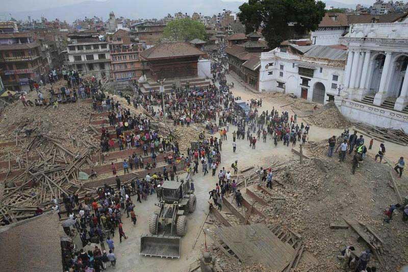 הריסות מקדשים בנפאל