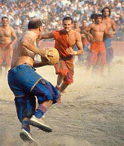 כדורגל בתלבושת תקופתית