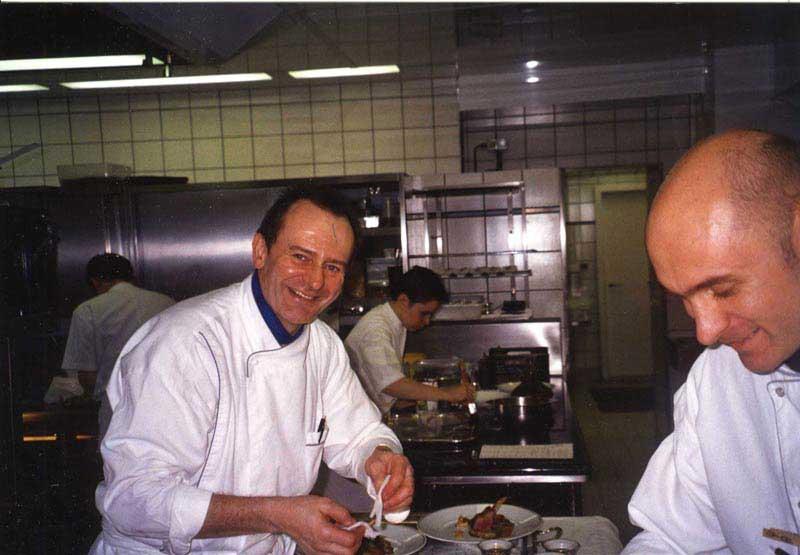קליין במטבח עם 3 כוכבים