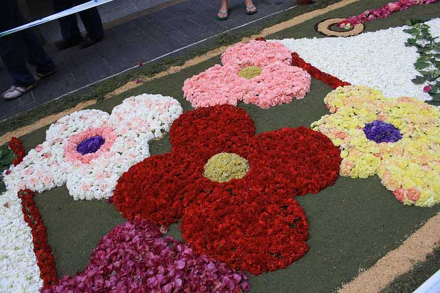 מרבדי פרחים בחג הלחם והיין הקדושים