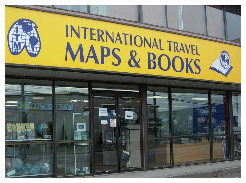 חנות של הוצאת המפות הקנדית ITMB