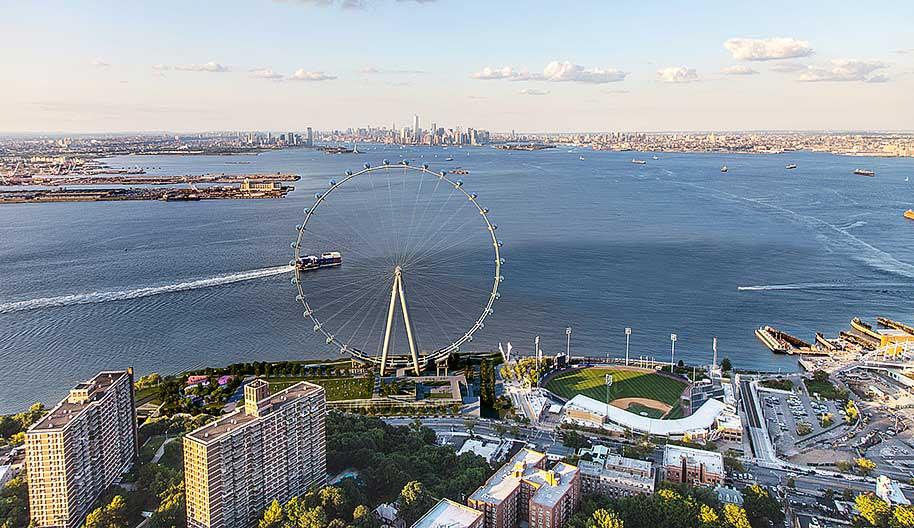 תמונת אילוסטרציה של הגלגל הענק המתוכנן בסטטן איילנד