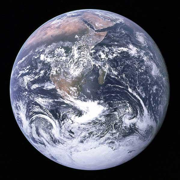 מראה של כדור הארץ מהחלל החיצון