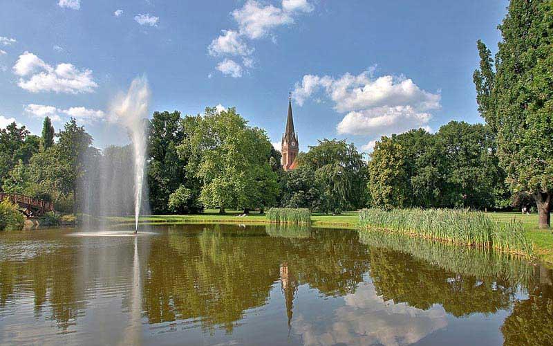 פארק יוהאנה (Johannapark), קרוב לאוניברסיטת לייפציג