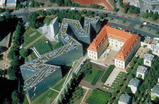 המוזיאון היהודי (משמאל)