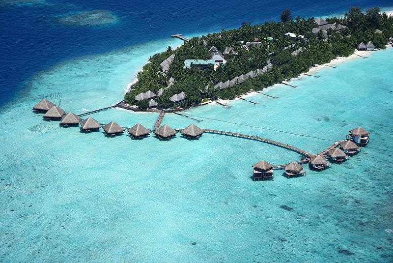 אחד מאתרי הנופש הרבים באיים המלדיביים