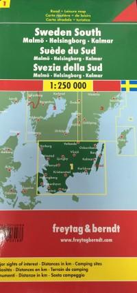 מפת שבדיה (1) דרום פרייטג ברנדט  - עטיפה אחורית