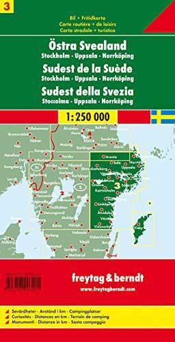 מפת שבדיה (3) דרום מזרח (אזור שטוקהולם) פרייטג ברנדט  - עטיפה אחורית