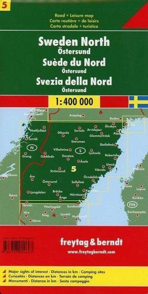 מפת שבדיה (5) צפון פרייטג ברנדט  - עטיפה אחורית