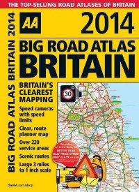 מפת בריטניה אטלס הדרכים הגדול 2014 - ספירלי AA (ישן)