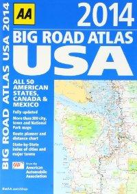 """מפת ארה""""ב אטלס הדרכים הגדול 2014 AA (ישן)"""