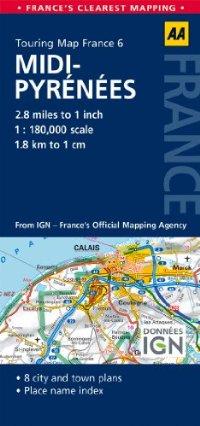 מפה AA צרפת 180 (6) מידי-פירינה (הפירנאים)