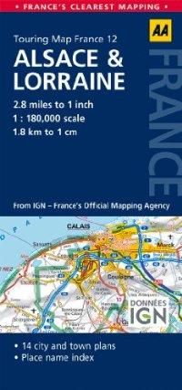 מפה AA צרפת 180 (12) אלזאס ולורן