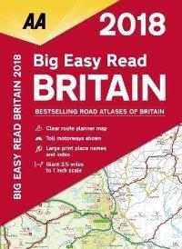 מפה AA בריטניה אטלס הדרכים הגדול 2018