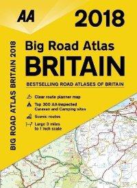 מפה AA בריטניה אטלס הדרכים הגדול 2018 - ספירלי