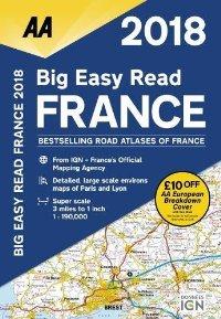 מפה AA צרפת אטלס הדרכים הגדול 2018