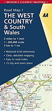 מפה AA בריטניה 200 (1) דרום מערב אנגליה ודרום וויילס
