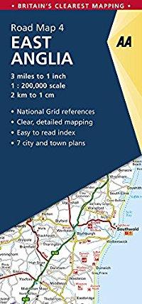 מפה AA בריטניה 200 (4) מזרח אנגליה