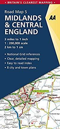 מפה AA בריטניה 200 (5) המידלנדס ומרכז אנגליה