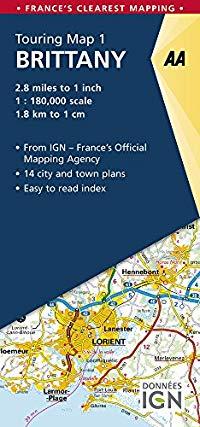 מפה AA צרפת 180 (1) ברטאן (בריטאני)