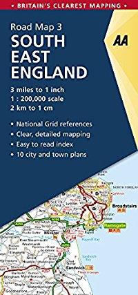 מפה AA בריטניה 200 (3) דרום מזרח אנגליה
