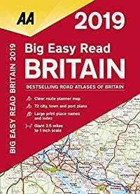 מפה AA בריטניה אטלס הדרכים הגדול 2019