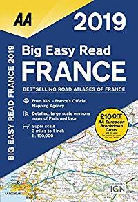 מפה AA צרפת אטלס הדרכים הגדול 2019