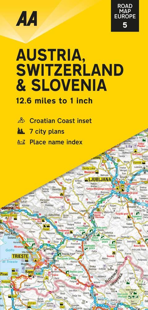 מפה AA אוסטריה שווייץ וסלובניה