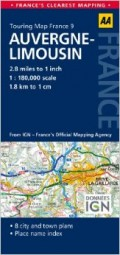 מפה AA צרפת 180 (9) אוברן ולימוזאן