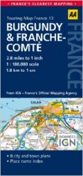 מפה AA צרפת 180 (13) בורגון ופראנש-קומטה