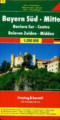 מפה FB גרמניה 200 (1) באוואריה דרום, מרכז