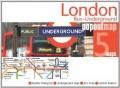 מפה FP לונדון אוטובוסים ורכבת תחתית, מפת פופ אאוט