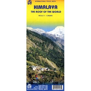 Himalaya Region Travel Reference Map