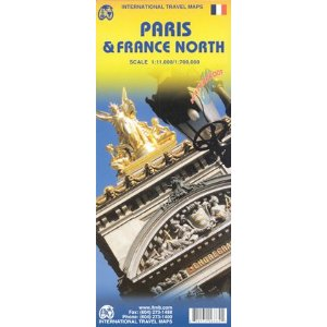 Paris and Northern France Travel Reference Map