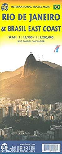 מפה ITM ריו דה ז'ניירו וברזיל החוף המזרחי
