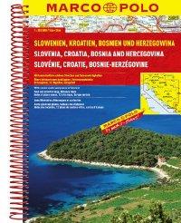 מפה MA סלובניה וקרואטיה אטלס A4