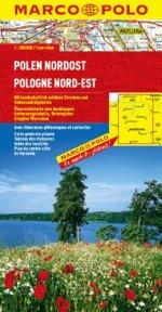 מפה MA פולין צפון מזרח