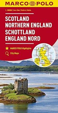 מפה MA סקוטלנד וצפון אנגליה (בריטניה צפון)