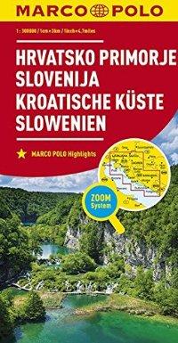 מפה MA קרואטיה (איזור החוף) וסלובניה