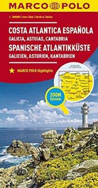 מפה MA ספרד 300 (1/2) החוף האטלנטי (גליסיה וצפון ספרד)