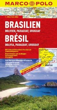 מפה MA דרום אמריקה צפון מזרח (ברזיל ועוד)