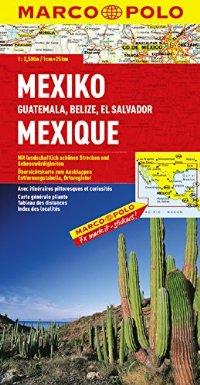 מפת מקסיקו (כולל: גואטמלה בליז אל סלוודור) מאייר (ישן)