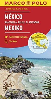 מפה MA מקסיקו (כולל: גואטמלה בליז אל סלוודור)