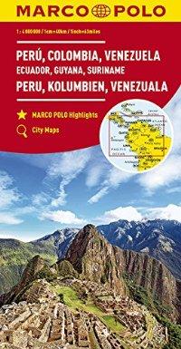 מפה MA דרום אמריקה צפון (מערב)