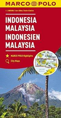 מפה MA מלזיה אינדונזיה