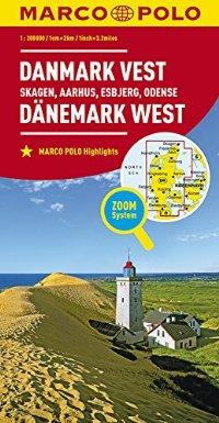 מפה MA דנמרק מערב